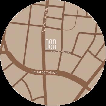 Mapa de DonDoh, Restaurant Japonés en San Isidro